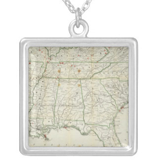 The Historical War Map Silver Plated Necklace