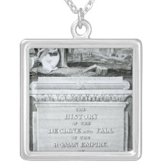 The History of Decline and Fall of  Roman Silver Plated Necklace