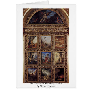 The History Of Mankind, 9 Plates By Moreau Gustave Greeting Card
