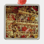 The History of Pope Alexander III Silver-Colored Square Decoration