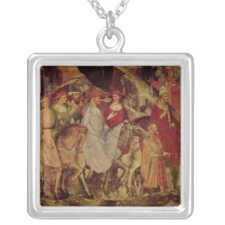 The History of Pope Alexander III Silver Plated Necklace