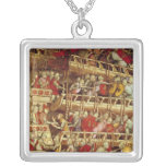 The History of Pope Alexander III Square Pendant Necklace