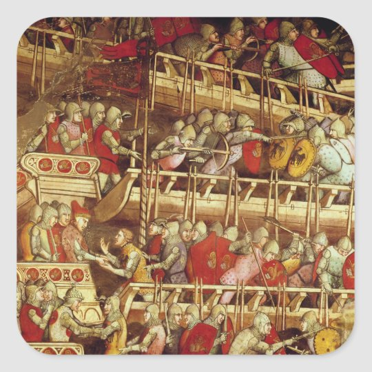 The History of Pope Alexander III Square Sticker