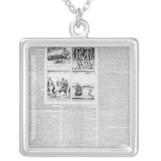 The history of the Battle of Worcester Silver Plated Necklace