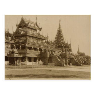 The Hman Kyaung or the glass monastery, Burma Postcard