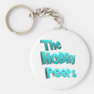 The Hobby Peeps Merchandise Basic Round Button Key Ring