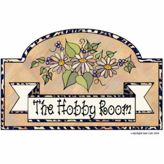 """The Hobby Room"" - Decorative Sign Photo Sculpture Decoration"