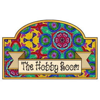 """The Hobby Room"" - Decorative Sign Photo Sculpture"