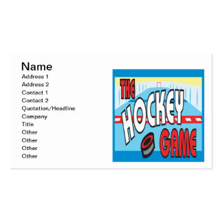 The Hockey Game Pack Of Standard Business Cards
