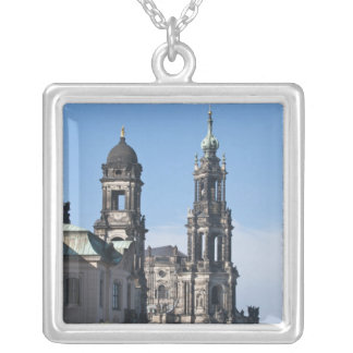The hofkirche (Church of the Court) Dresden Silver Plated Necklace