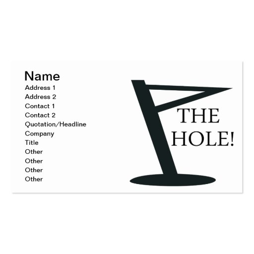 The Hole Business Card Template