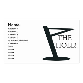 The Hole Pack Of Standard Business Cards