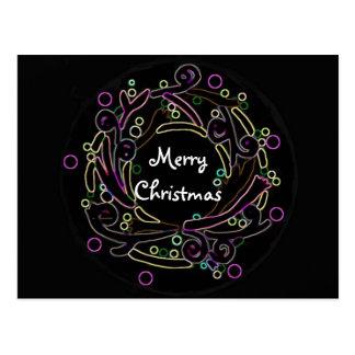 The Holiday Wreath Postcard