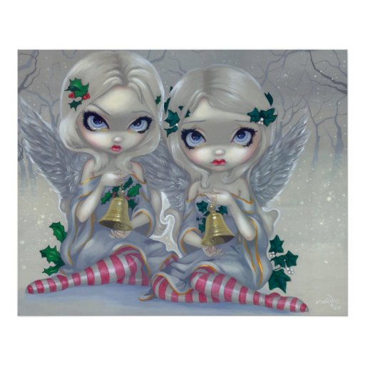 The Holly and the Ivy ART PRINT christmas fairy
