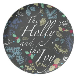 The Holly and The Ivy Melamine Plate