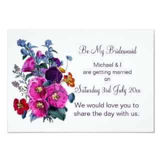 The Hollyhocks Collection Be My Bridesmaid Card