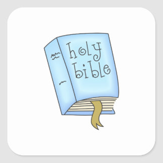 THE HOLY BIBLE SQUARE STICKERS