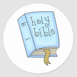 THE HOLY BIBLE ROUND STICKERS