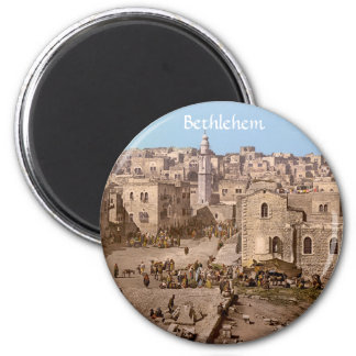 The Holy City Of Bethlehem 6 Cm Round Magnet
