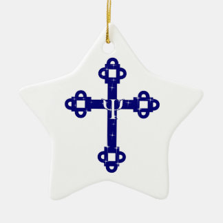 The Holy Cross Ceramic Star Decoration