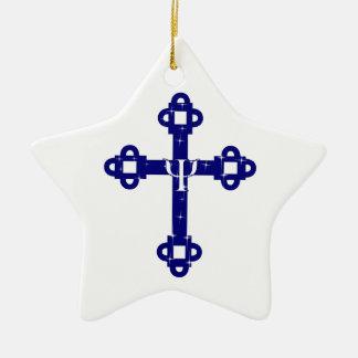 The Holy Cross Ceramic Star Decoration