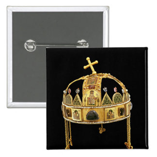 The Holy Crown of Hungary, 11th-12th century 15 Cm Square Badge