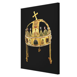 The Holy Crown of Hungary, 11th-12th century Canvas Print