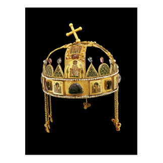 The Holy Crown of Hungary, 11th-12th century Postcard