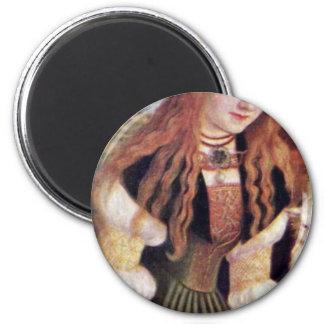 The Holy Dorothea By Cranach D. Ä. Lucas (Best Qua 6 Cm Round Magnet