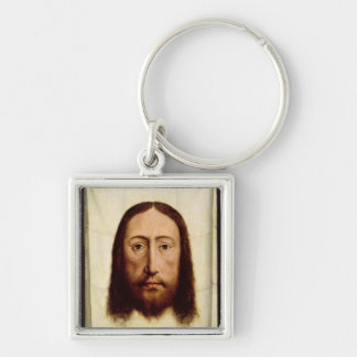 The Holy Face, c.1450-60 Silver-Colored Square Key Ring