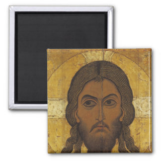 The Holy Face Square Magnet