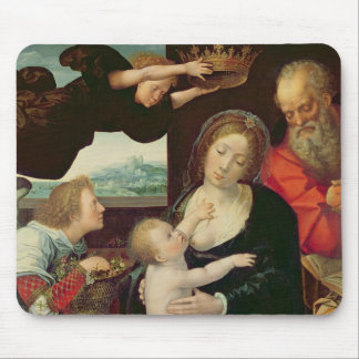The Holy Family, 1522 (oil on panel) Mouse Pad