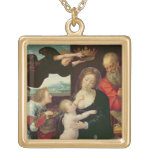 The Holy Family, 1522 (oil on panel) Pendants
