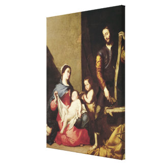 The Holy Family, 1639 Canvas Print