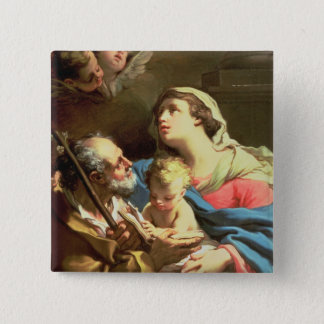 The Holy Family, 18th century 15 Cm Square Badge