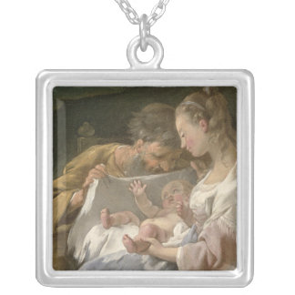 The Holy Family, 18th century Silver Plated Necklace