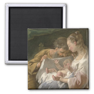 The Holy Family, 18th century Square Magnet