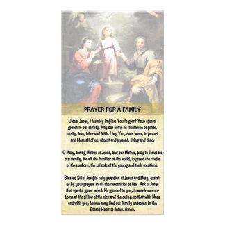 The Holy Family and the Prayer for a Family Photo Cards