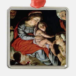 The Holy Family around a Fire, c.1532-33 Christmas Ornament