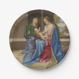 The Holy Family by Giorgione Paper Plate