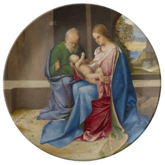 The Holy Family by Giorgione Porcelain Plates
