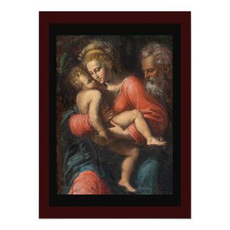 The Holy Family by Girolamo da Carpi 14 Cm X 19 Cm Invitation Card