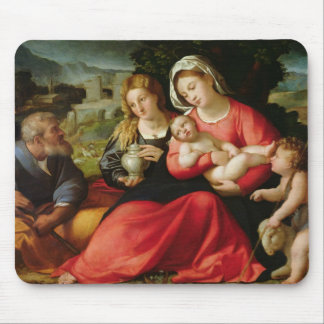 The Holy Family, c.1508-12 (oil on canvas) Mouse Pad