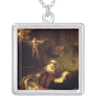 The Holy Family, c.1645 Silver Plated Necklace