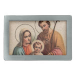 The Holy Family - Jesus, Mary, and Joseph Rectangular Belt Buckle