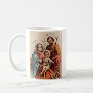 The Holy Family - Jesus, Mary, and Joseph Basic White Mug