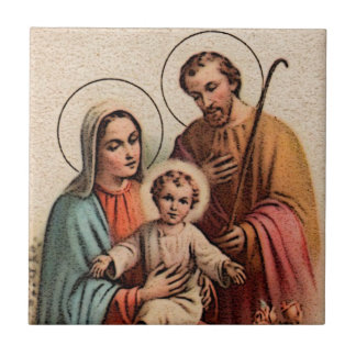 The Holy Family - Jesus, Mary, and Joseph Tile