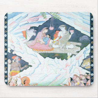 The Holy Family of Shiva and Parvati Mouse Mat