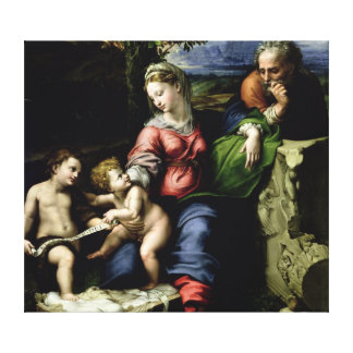 The Holy Family of the Oak Tree, c.1518 Canvas Prints