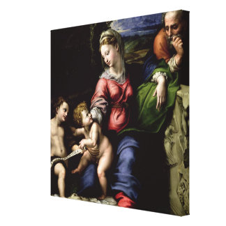 The Holy Family of the Oak Tree, c.1518 Stretched Canvas Print